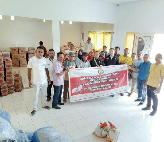 Peduli Kemanusiaan, SKK Migas dan Kontraktor KKS Salurkan Bantuan Bagi Korban Gempa Maluku