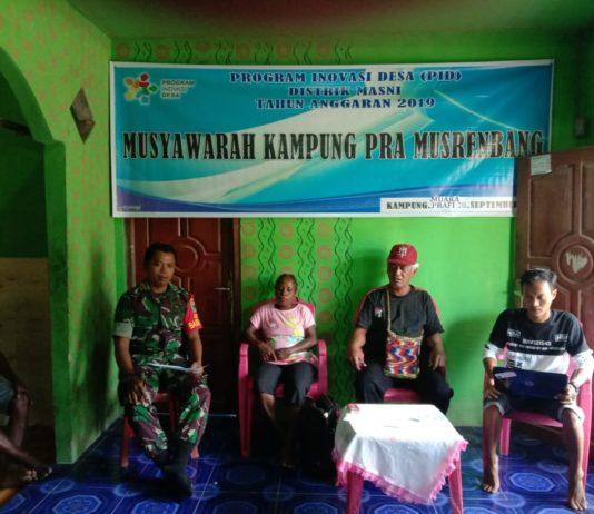 Hadiri Pra Musrembang, Babinsa Masni Minta Dana Kampung Dikelola Secara Jujur