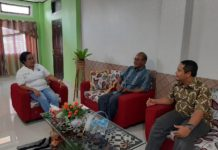 Koordinasi dan diskusi dalam rangka kegiatan pendampingan daerah perbatasan tahun 2020, bersama Kepala Badan Pengelolaan Perbatasan dan Kerjasama Provinsi Papua. Foto:IST