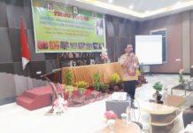 Direktur Polbangtan Manokwari, drh Purwanta,M.Kes saat mensosialisasikan Program Kostratani.